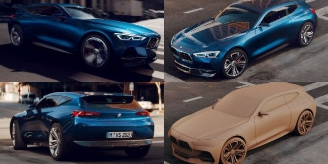 The Network showed a render of the BMW in the back Shooting Brake