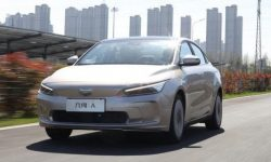 Geely brought its first electric car Geely Geometry A