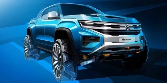 In the Network appeared the first image of the new Volkswagen Amarok