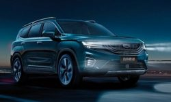 Geely showed a large crossover on the new photos and videos