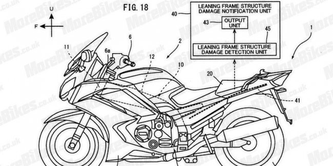 Yamaha patents a carbon frame that tracks your damage