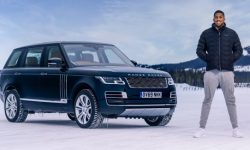 50 years of Range Rover: British boxer Anthony Joshua and Land Rover celebrate Golden anniversary by creating the art installation from the snow