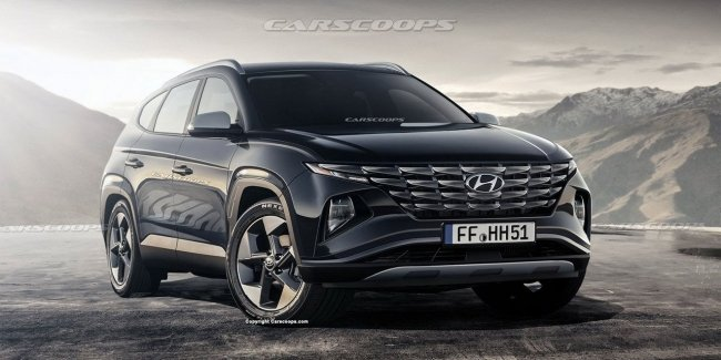 In the network appeared photo interior Hyundai Tucson