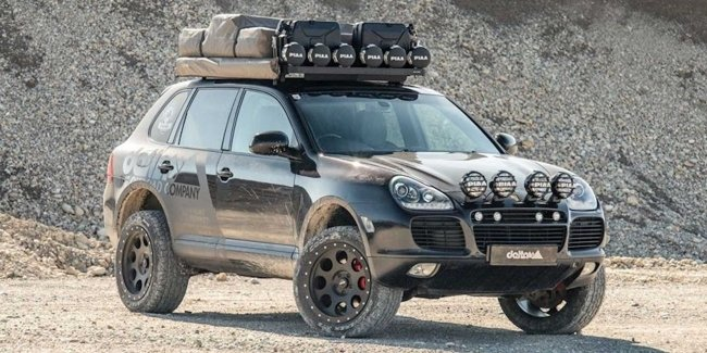 The Porsche Cayenne has been prepared for African roads