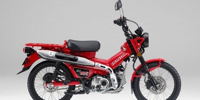 Honda has officially unveiled the minibike Honda CT125 Hunter Cub 2021