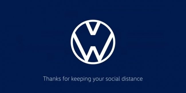 Audi and Volkswagen unusual way reminded of the need to keep a distance