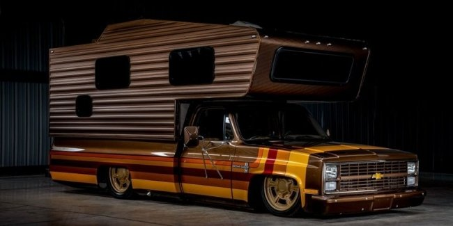 Looks like the most stylish house on wheels