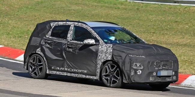 A more powerful version of crossover Hyundai N Kona spotted on the tests