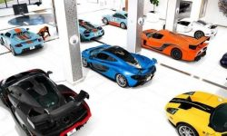 Photos and videos of the most impressive collections of supercars and vintage cars
