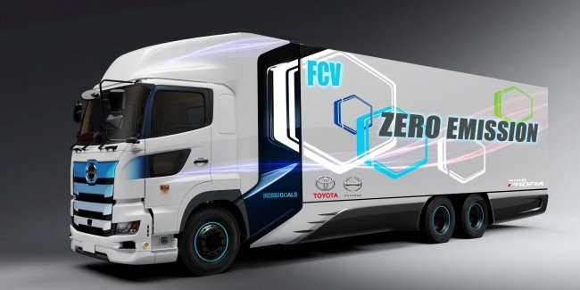 The answer is Tesla Semi: truck Toyota develops hydrogen fuel