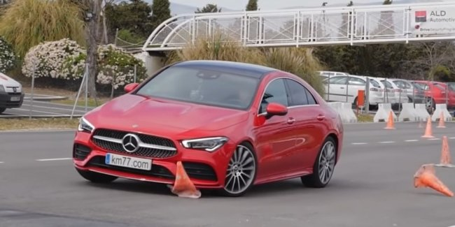 """Hit a deer"": the Mercedes CLA has failed the test of agility (video)"