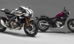 """News from Honda: cruiser and retrobit with the """"heart of Africa"""""""