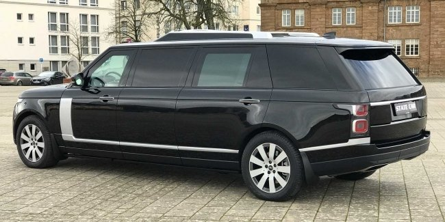 """The carriage"" for the Queen: a large tuning Range Rover"