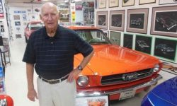 Died designer of the iconic Ford Mustang