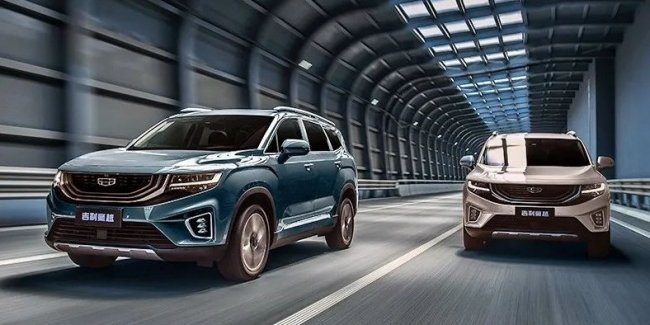 The new flagship Geely made it to dealers. Three-row crossover valued at $18.000