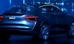Electric crossover KIA with the characteristics of the Porsche Taycan