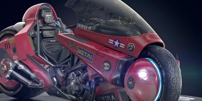 Motorcycle for bikers anime