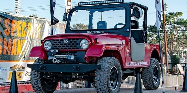 "Jeep ""drove"" Mahindra Roxor from USA"