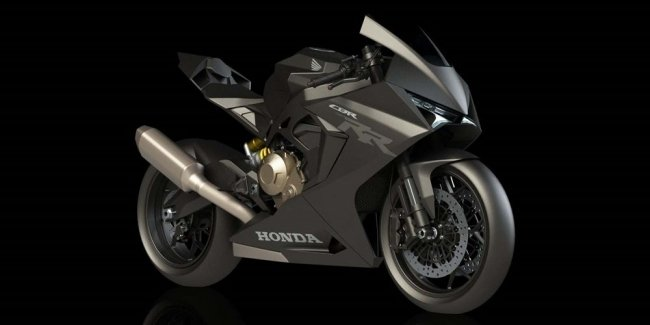 The concept Honda CBR750RR as a tribute to history