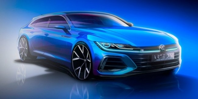 Updated VW Arteon showed in the video