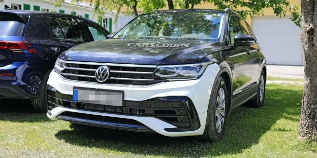 Updated VW Tiguan pictures and without camouflage