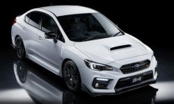 The limited-edition version of the Subaru WRX STI with elements