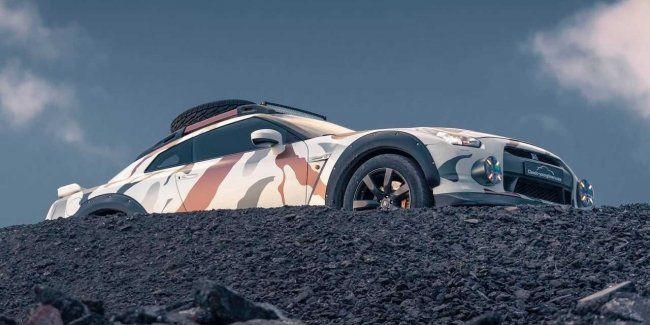 In the footsteps of the 911: the Nissan GT-R for off-road (video)