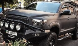 """In the capital there is a very """"evil"""" Toyota Tundra"""