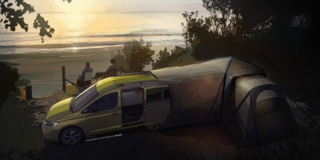 Smart caritra from VW: Caddy with a two-meter bed.