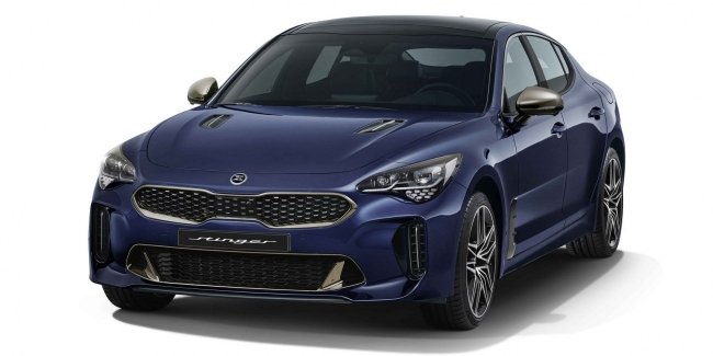 Updated KIA Stinger has unveiled the official photo