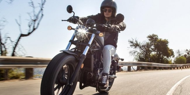 Honda Rebel 1100 motorcycle ready for production