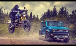 Off-Road Race: Suzuki Jimny vs Triumph Scrambler