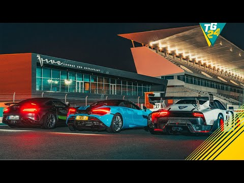 Porsche 935 vs Merc-AMG GT R Pro vs McLaren 720S Spider… at Night | Drag Races