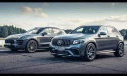 Mercedes-AMG GLC 63 vs Porsche Macan PP: Drag Races