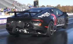 Bull got up on the buck: the most rabid Lamborghini (video)