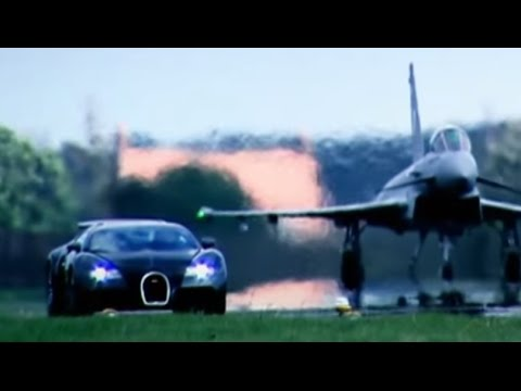 Bugatti Veyron vs Euro Fighter Typhoon (HQ) | Drag Race