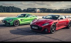 Aston Martin DBS Superleggera vs Mercedes-AMG GT R | Drag Races