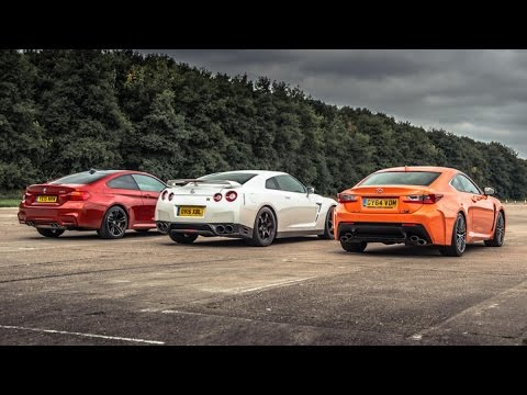 BMW M4 vs Lexus RC-F vs GT-R | Drag Races