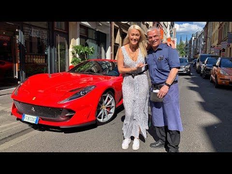 Waiter Receives Surprise Ferrari Delivery!