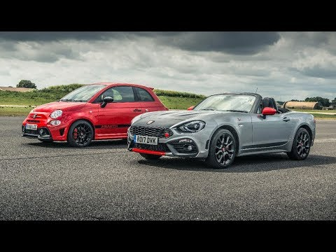 Abarth 595 Comp vs Abarth 124 Spider | Drag Races