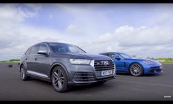 Drag Race! Audi SQ7 Vs Porsche Panamera