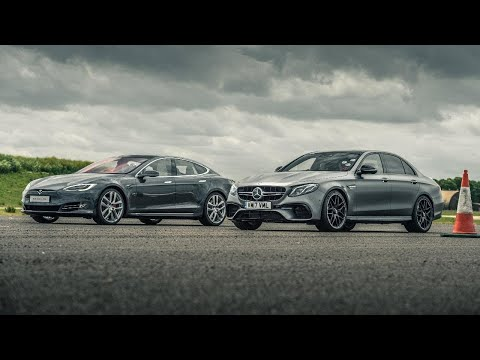 Tesla Model S P100D vs Merc-AMG E63 S | Drag Races