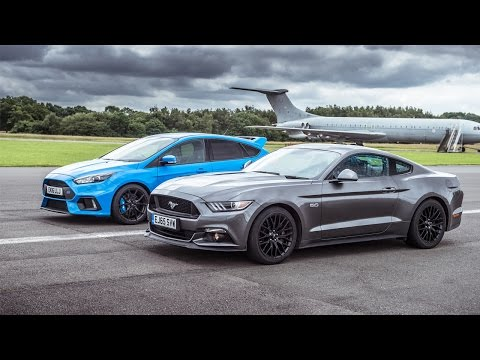 Ford Mustang vs Ford Focus RS: Drag Races