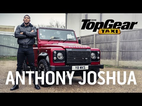 Anthony Joshua in a V8 Defender Taxi