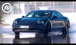 Chris Harris Drives RWD Porsche Taycan: World's Longest EV Drift Record Attempt