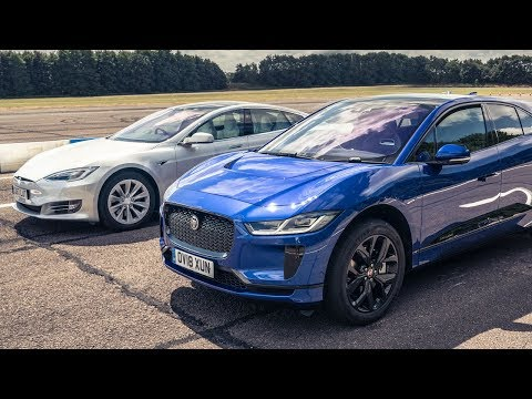 Tesla Model S 75d vs Jaguar I-Pace | Drag Races