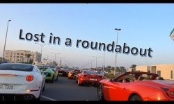 80 Supercars lost in a Roundabout