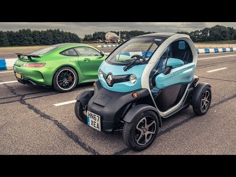 Mercedes-AMG GT R (IN REVERSE!) vs Renault Twizy | Drag Races