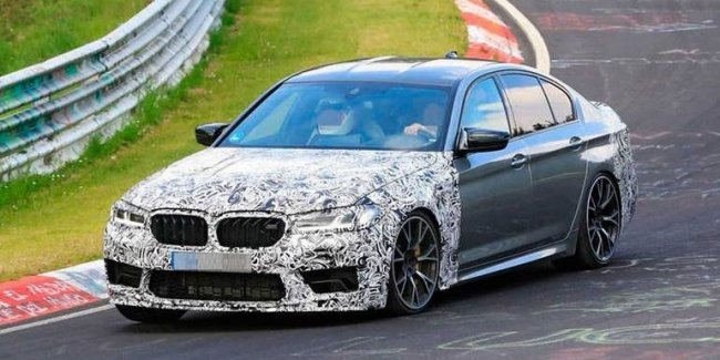 BMW rolled out on the track top M5
