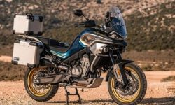 First photos of the production version of the tourenduro CFMoto MT800